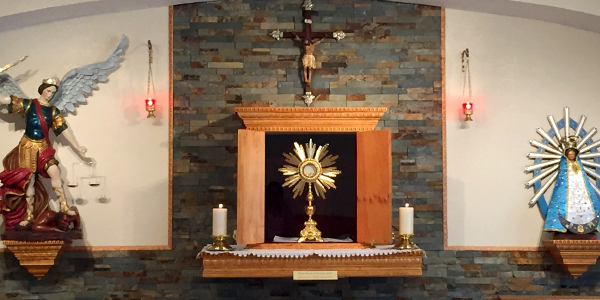 Institute of the Incarnate Word (IVE) Adoration Chapel Second Anniversary in Wauchula, Florida - St. Michael